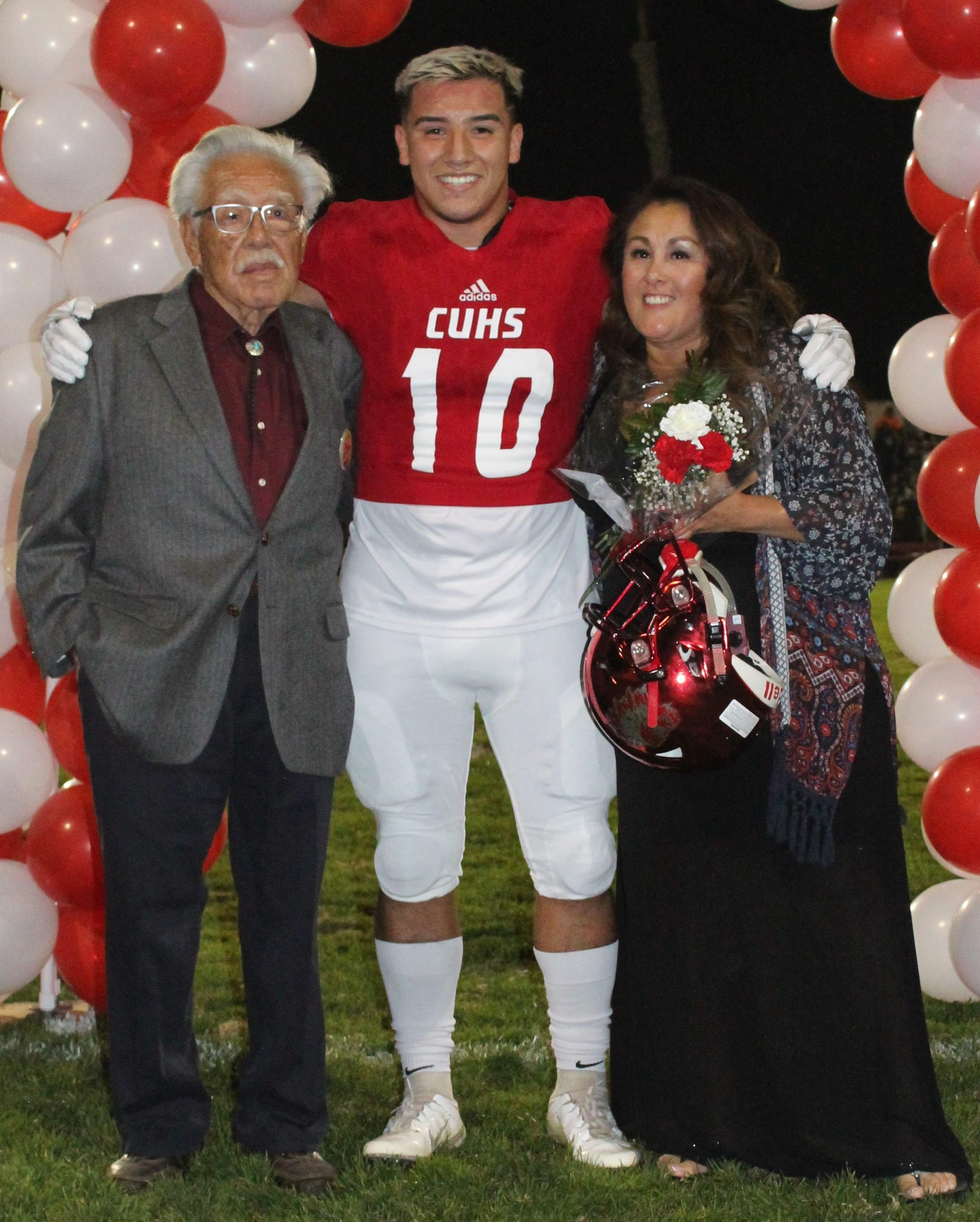 Andrew Young and his supporters at Senior Night.