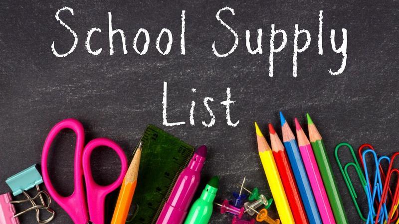 School Supply List 2021-2022 Featured Photo