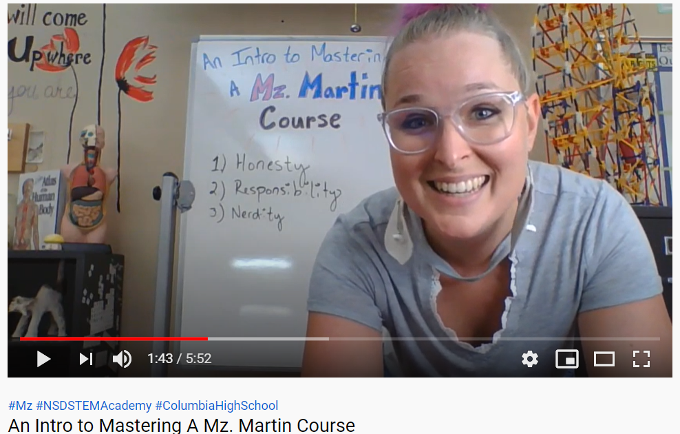 Picture of YouTube Video for Mastering a Mz. Martin Course