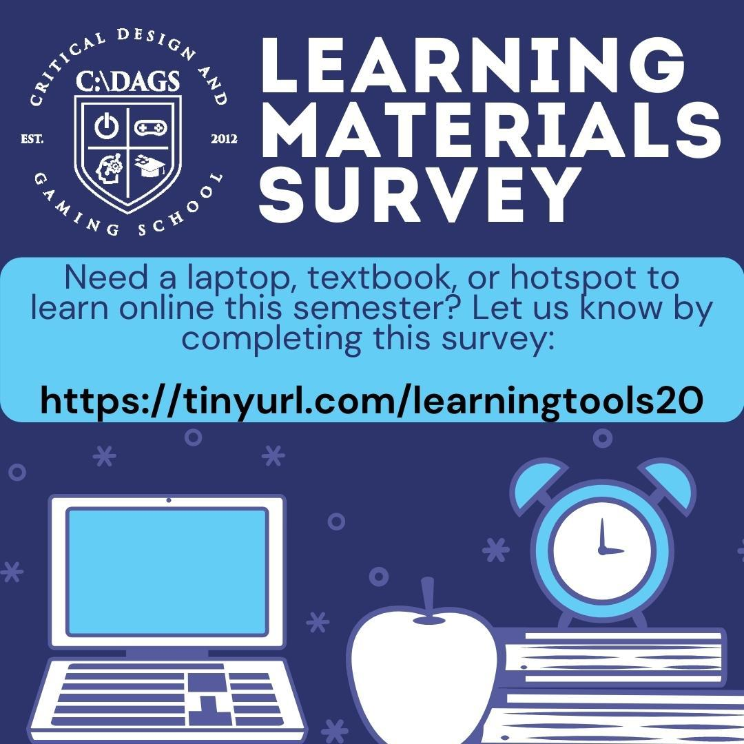 learning materials survey