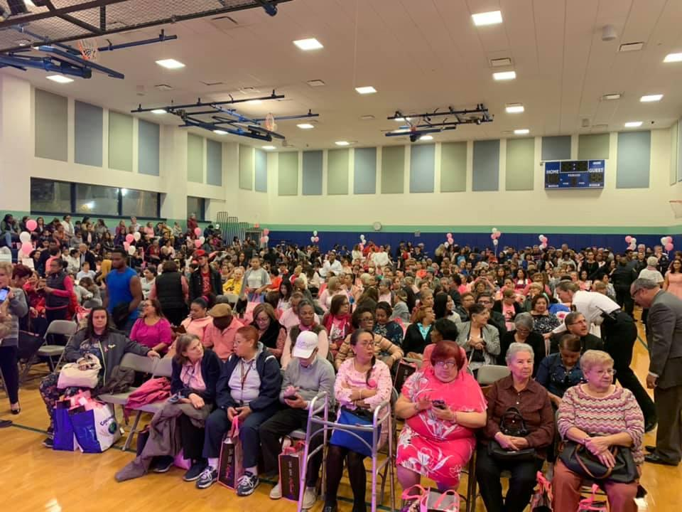 Breast Cancer Awareness event crowd