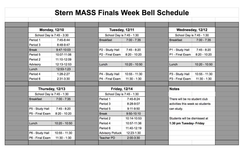 Finals Week Schedule Thumbnail Image