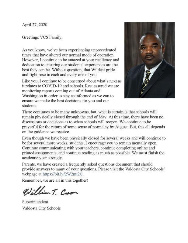 Cason's Letter to VCS Community