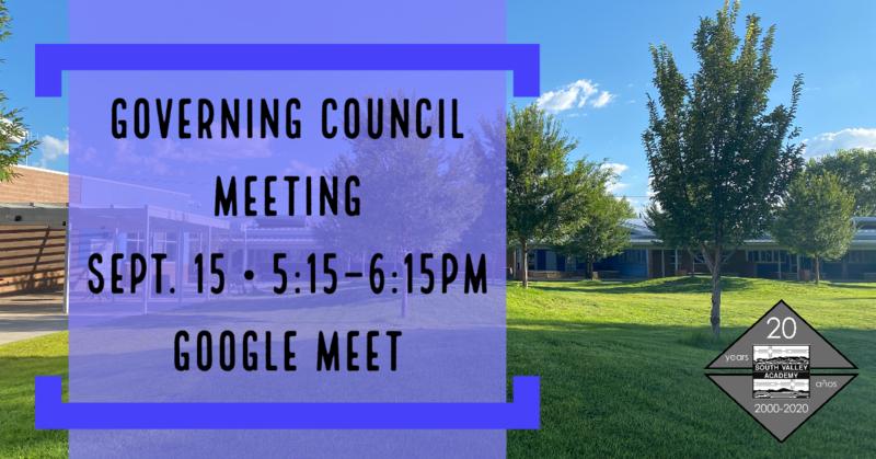 SVA GC Meeting 9/15 5:15pm