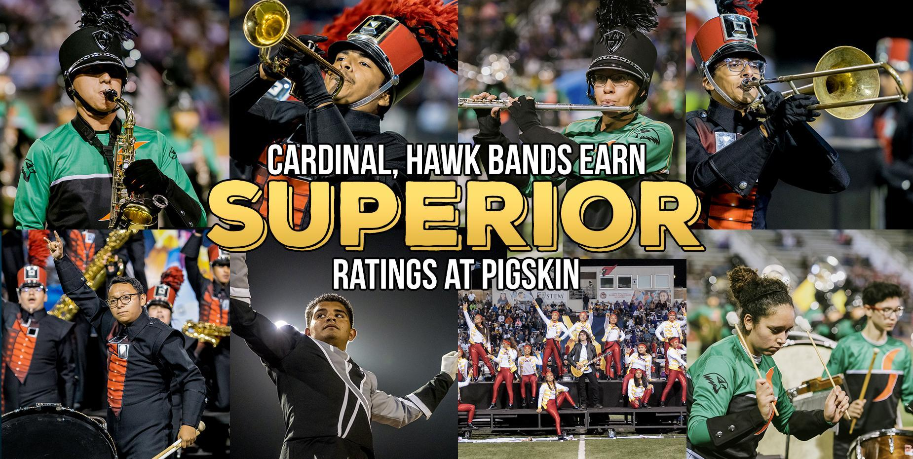 Cardinal, Hawk bands earn superior ratings at Pigskin