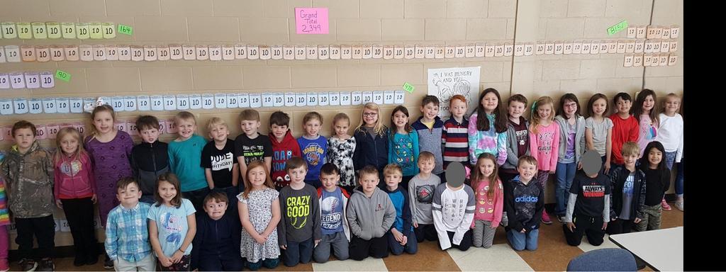 1st grade/food drive