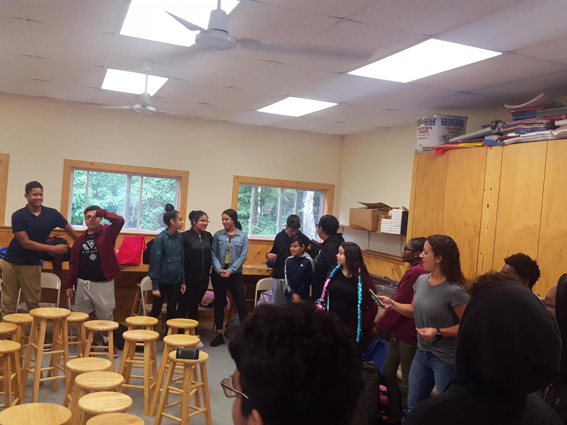 PGC Students at Retreat