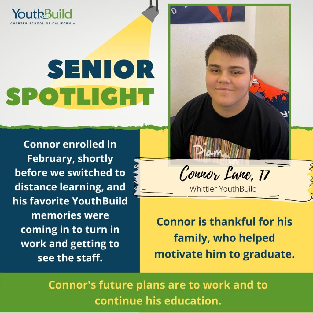 Senior Spotlight for graduate Connor Lane
