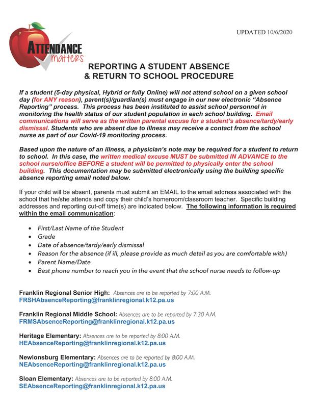 Absence Reporting & Student Return Process