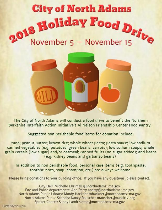 Annual Food Drive: November 5th through November 15th Featured Photo