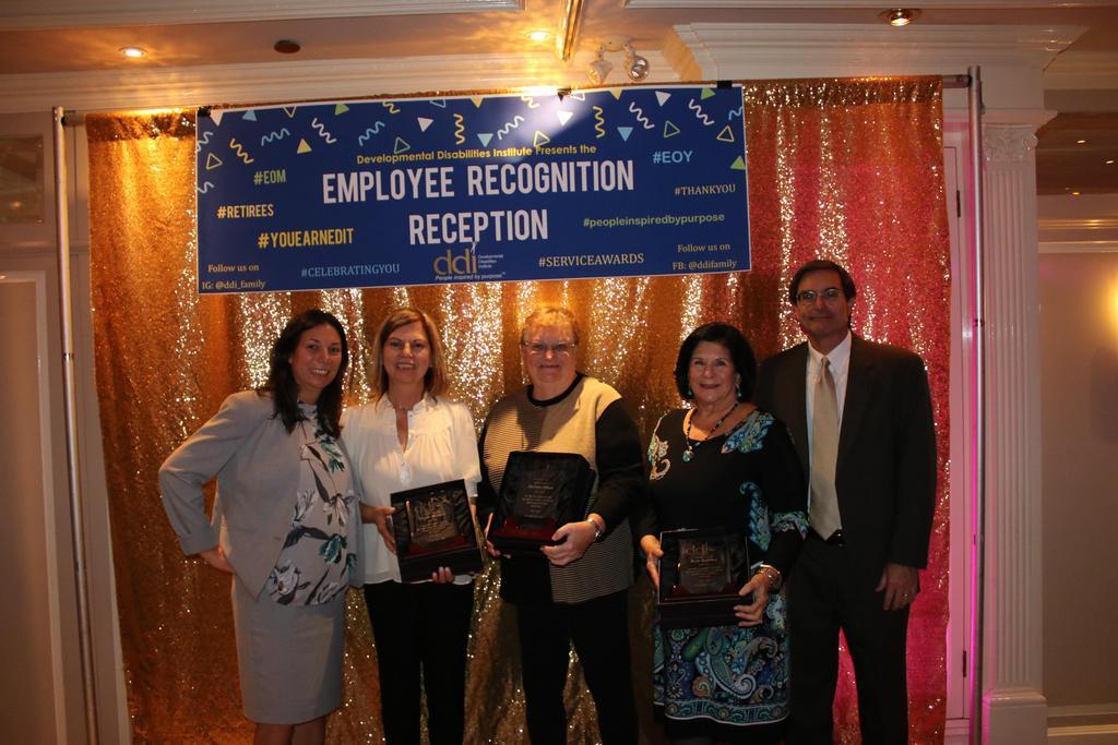 Group photo of Retiree Service Award recipients