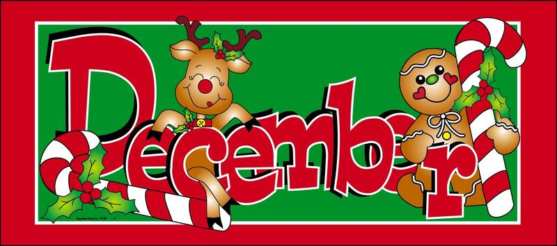 December reindeer and candy canes