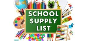 Supplies with School Supply List banner