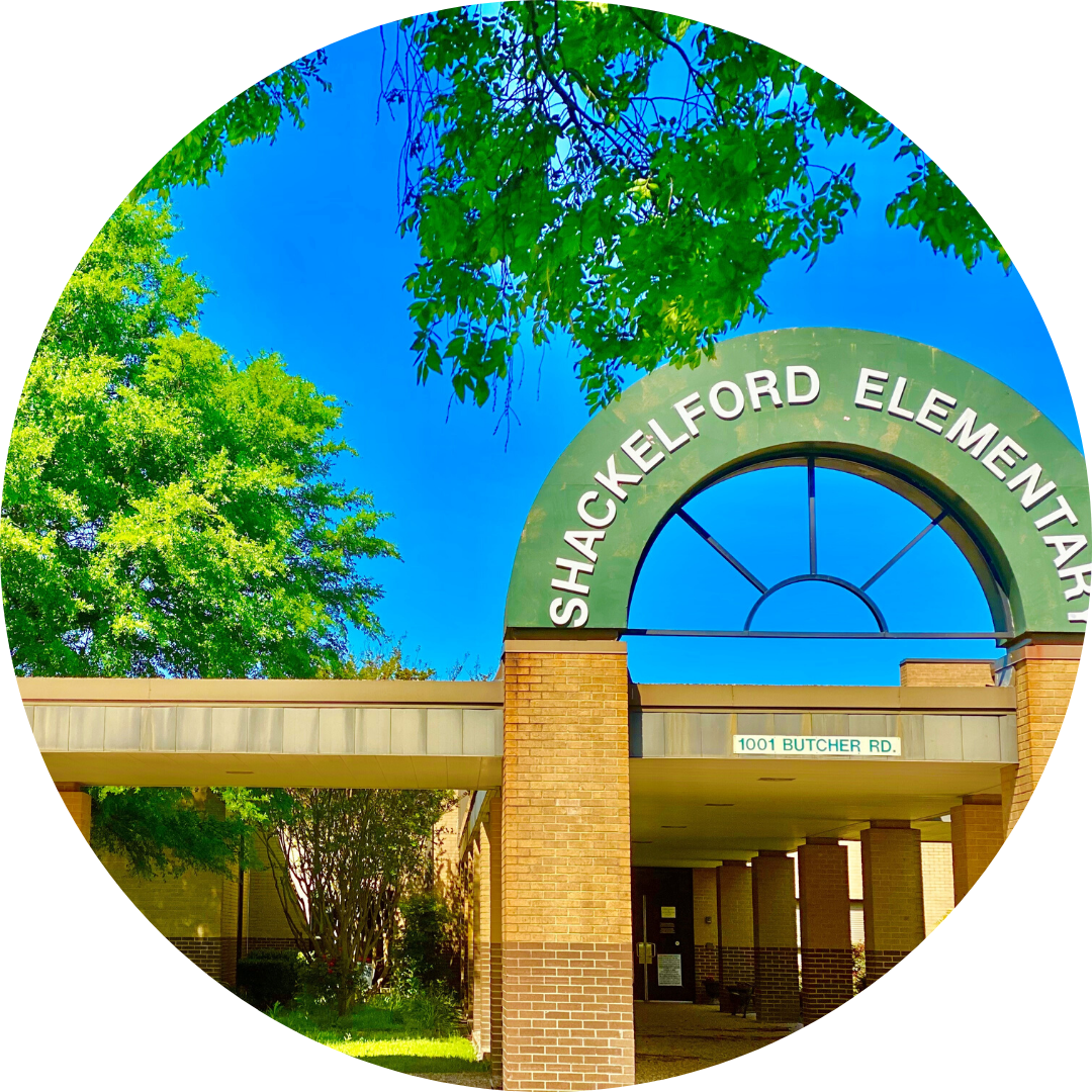 entrance to Shackelford Elementary