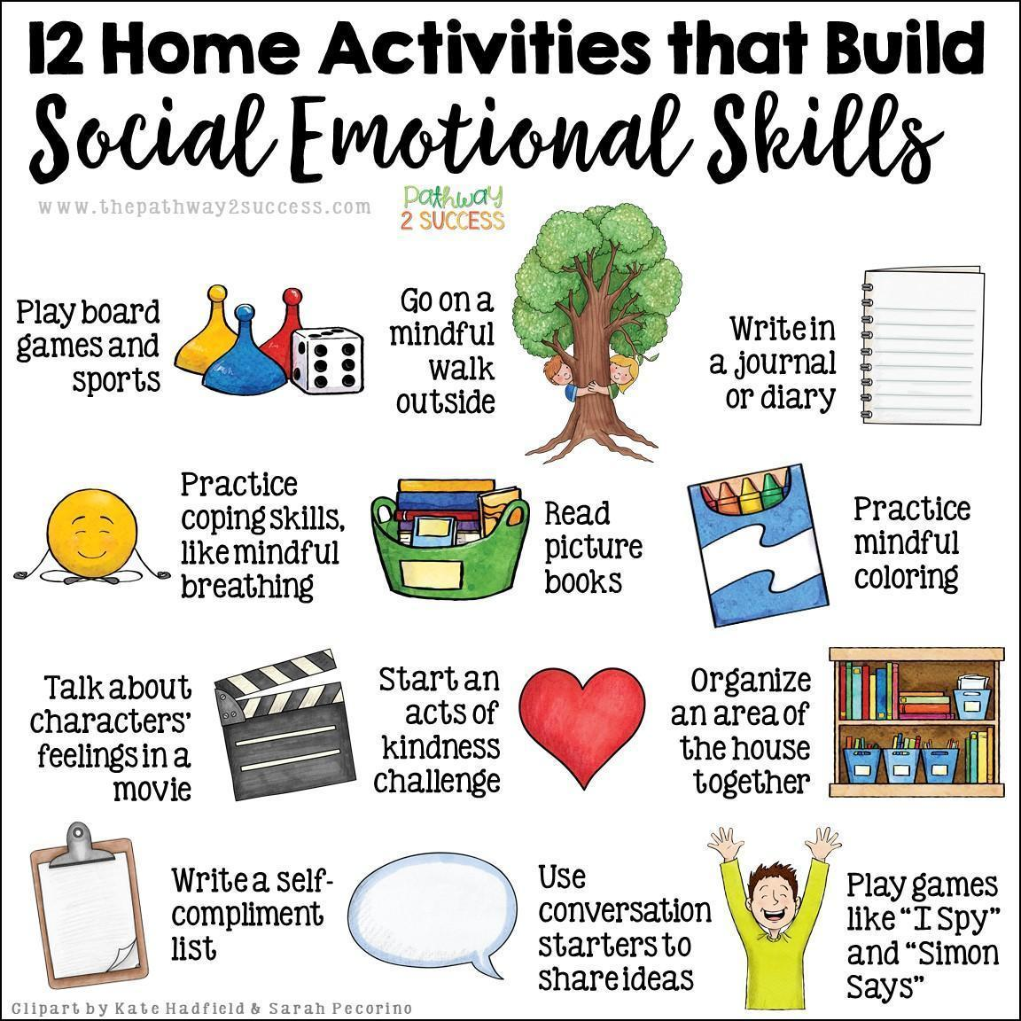 12 social emotional learning activities for at home