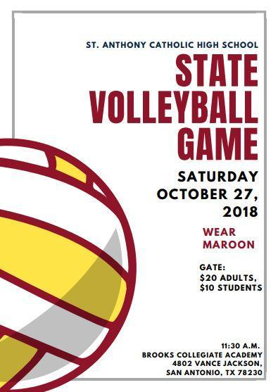 Volleyball State Flyer