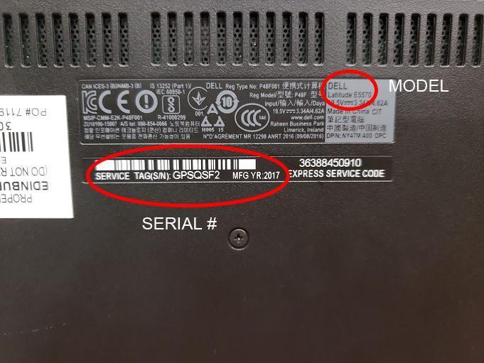 Serial number tag