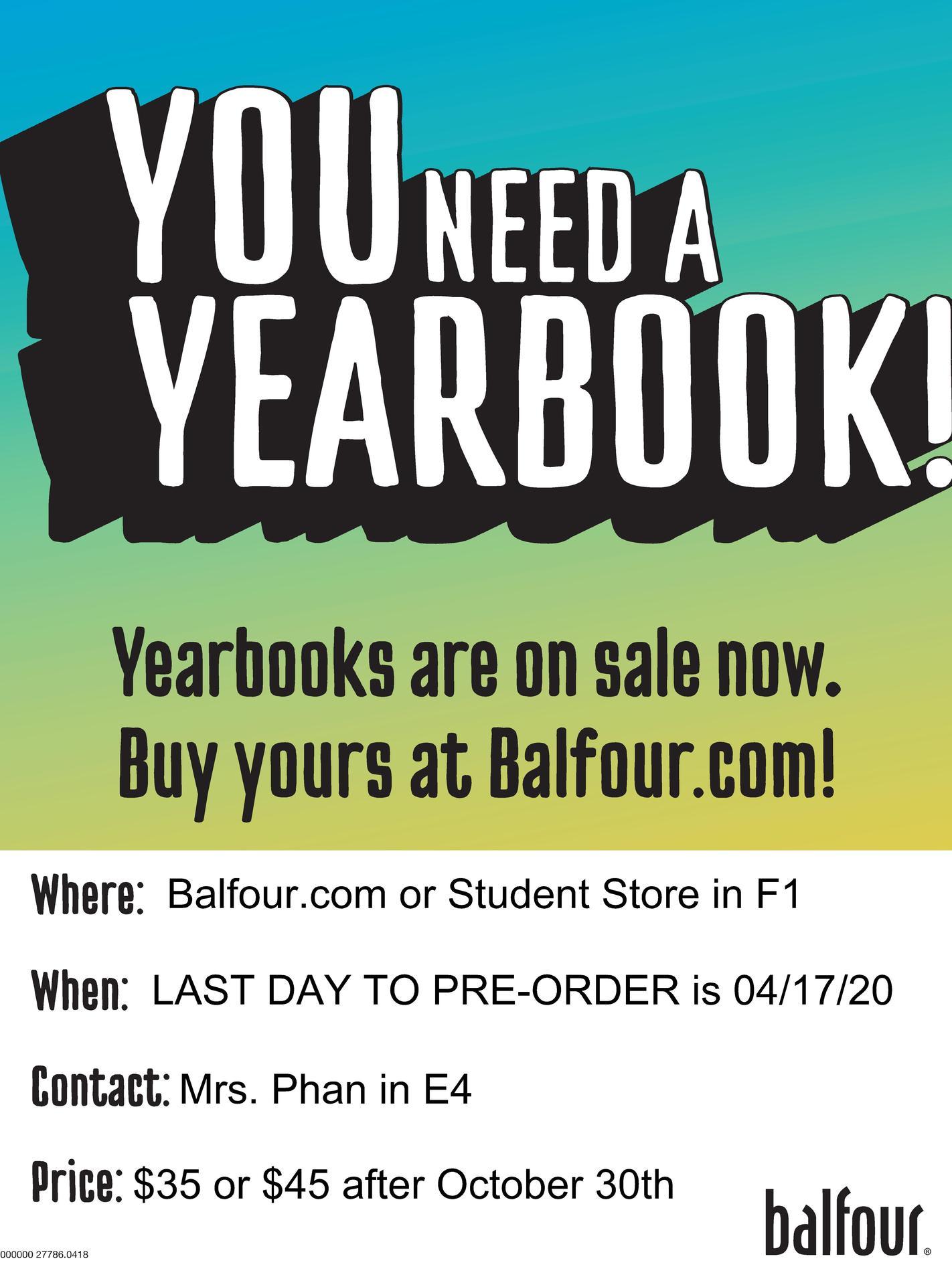 Yearbook Online Sales