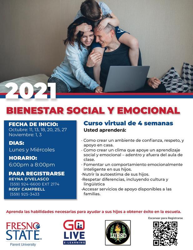 Fresno St. Parent University Social Emotional Wellness Class