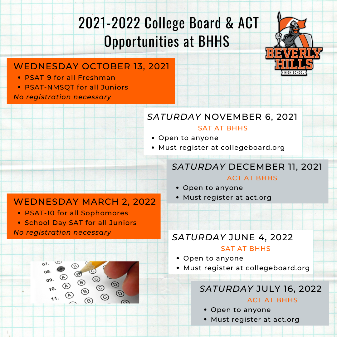 2021-2022 CB & ACT Opportunities at BHHS