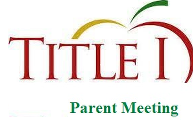 Title 1 parent meeting banner