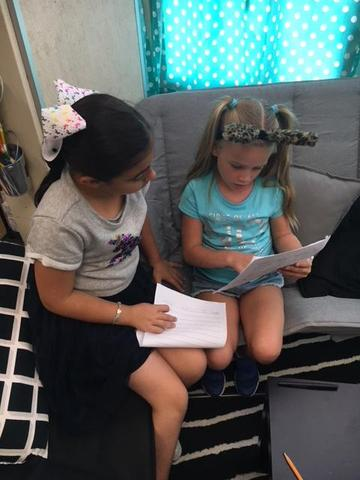Students sharing their writing
