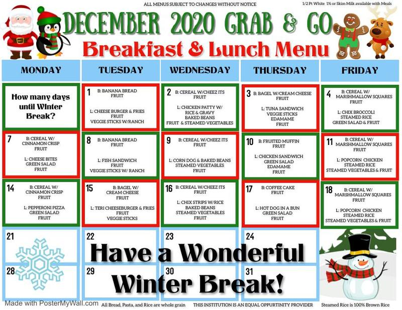 December 2020 Grab and Go