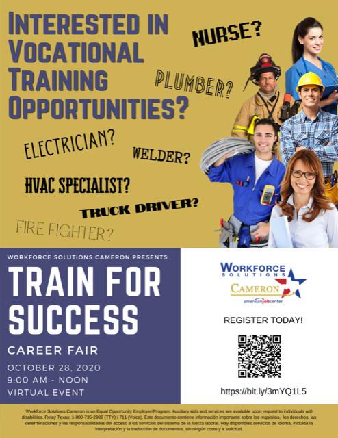 Train for Success Virtual Career Fair Featured Photo