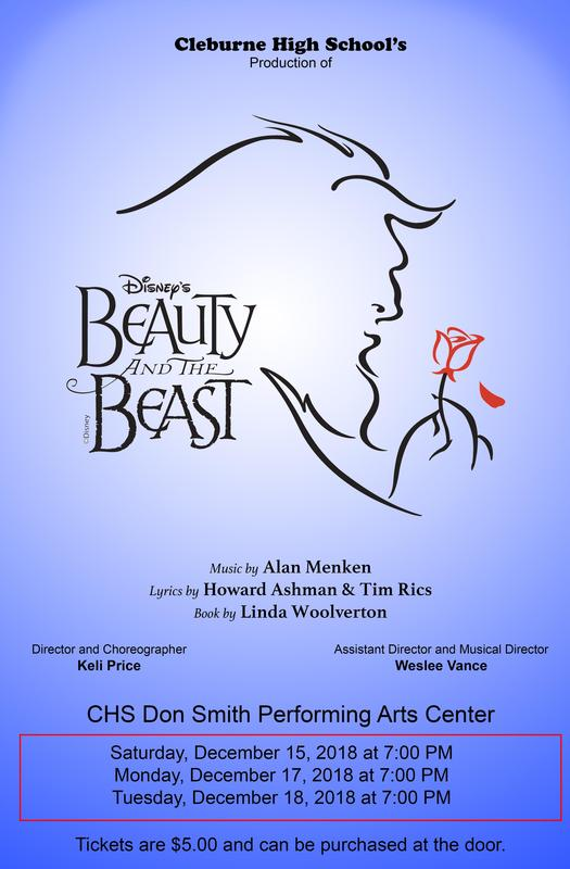 Playbill for CHS production of Beauty and the Beast