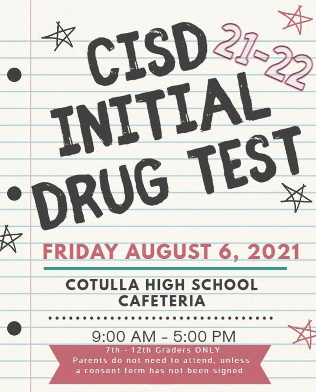 initial drug test for 7th - 12th graders