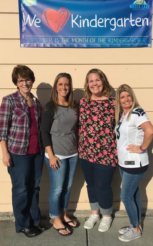 2019-20 Garden Heights Kindergarten teachers (l-r: Mrs. Franz, Mrs. Betes-Horst, Mrs. Dalton, & Mrs. Walker)
