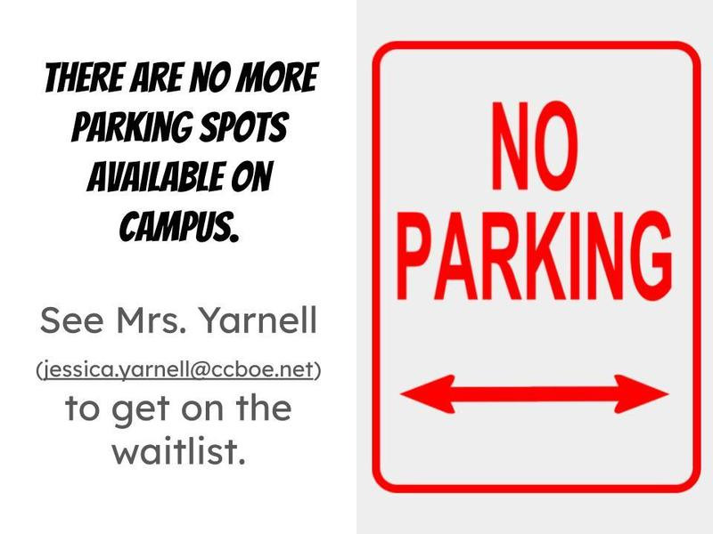 no more parking available