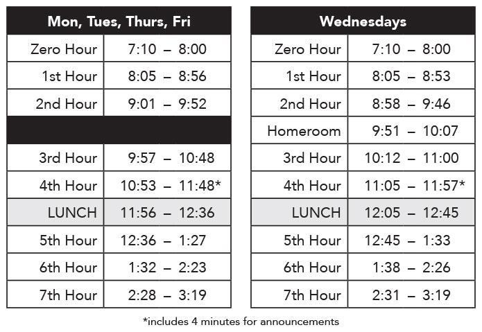 shorewood homework calendar