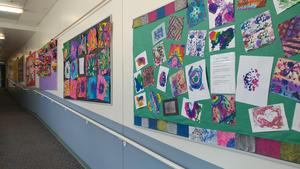 Bulletin Boards with Student Art Work