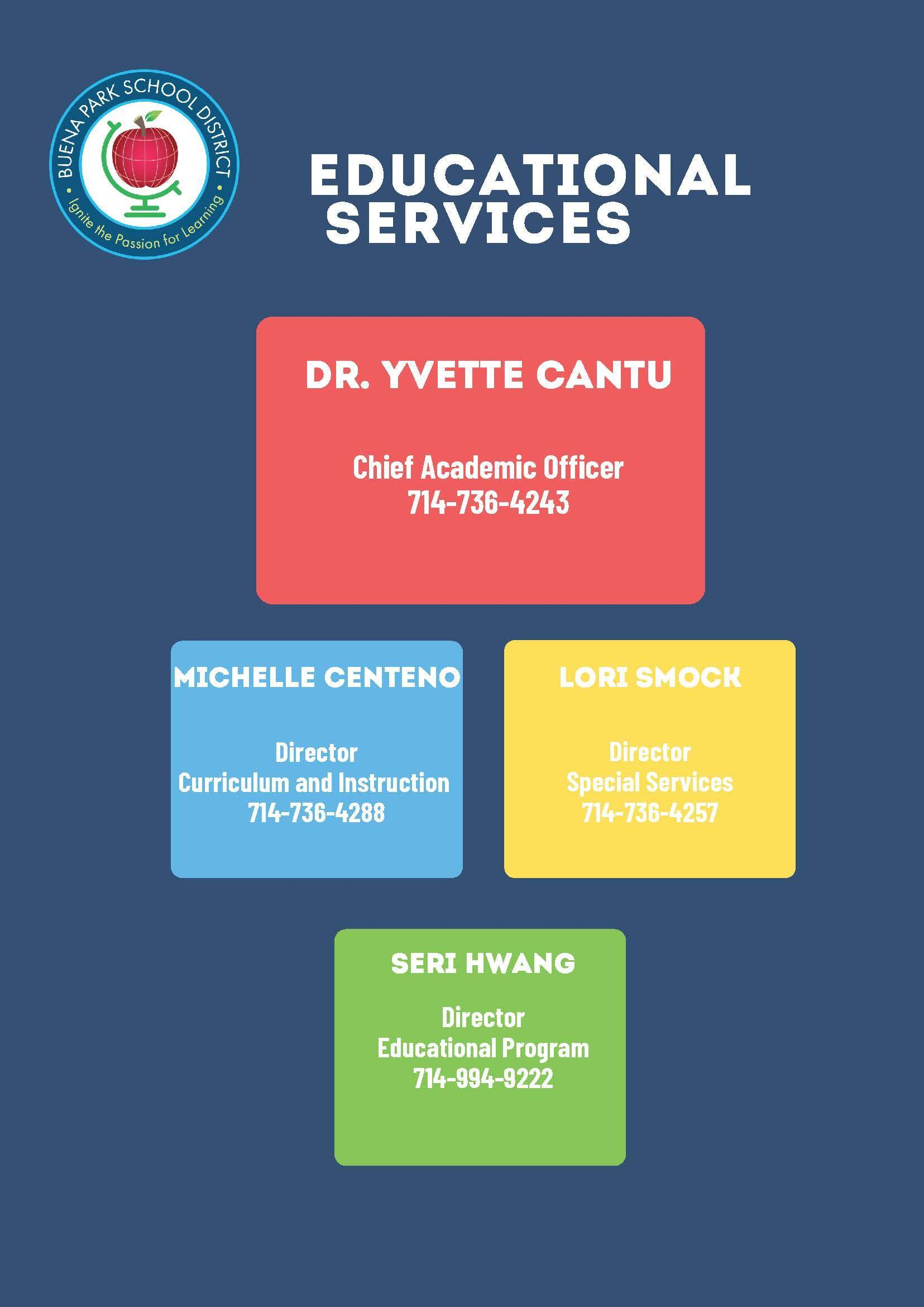 Contact information for Educational Services