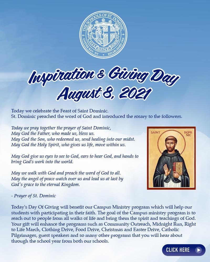 Inspiration & Giving Day - August 8, 2021 Featured Photo