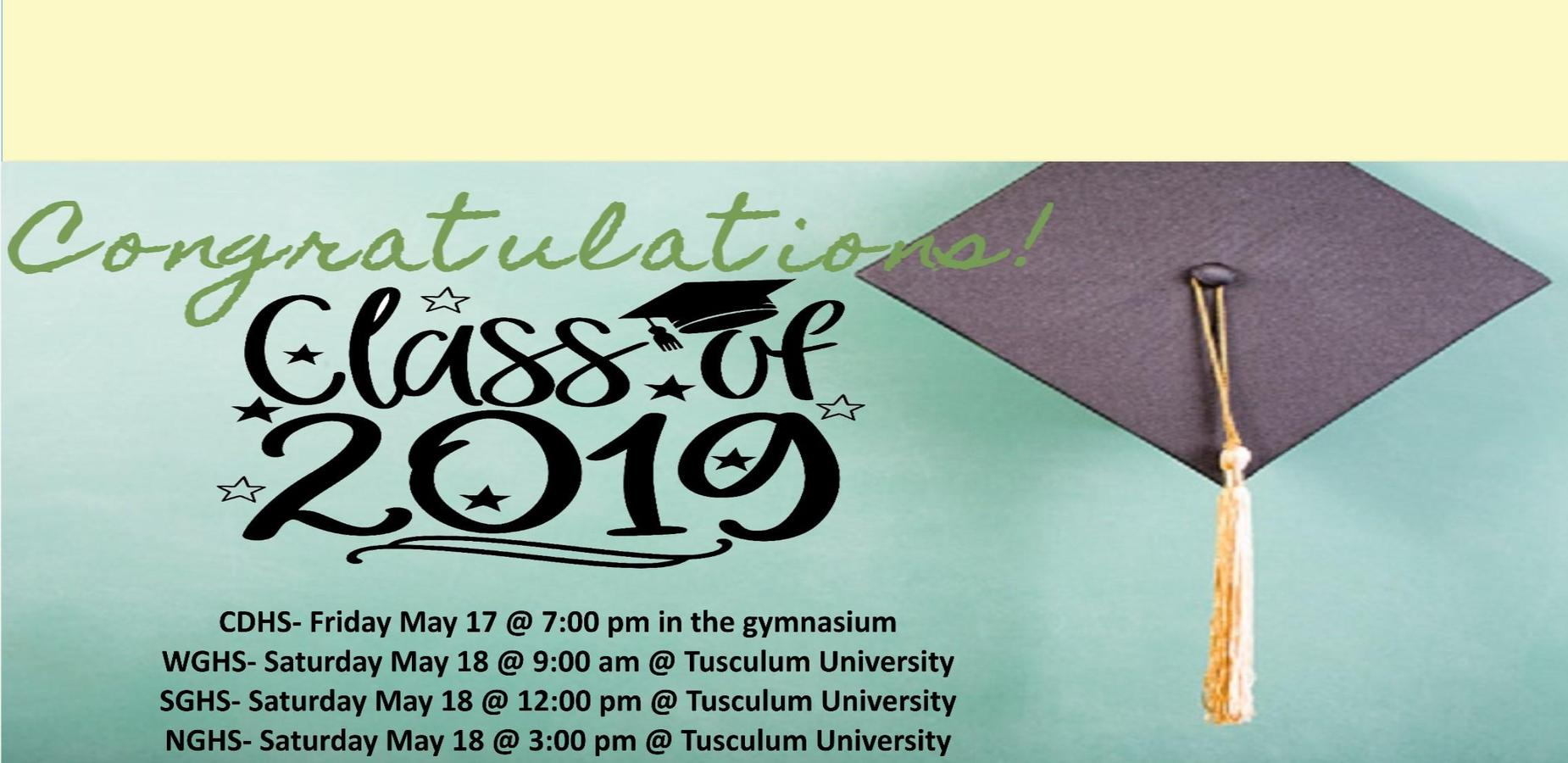 Graduation Dates
