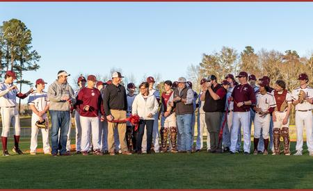 ribbon cutting at baseball field