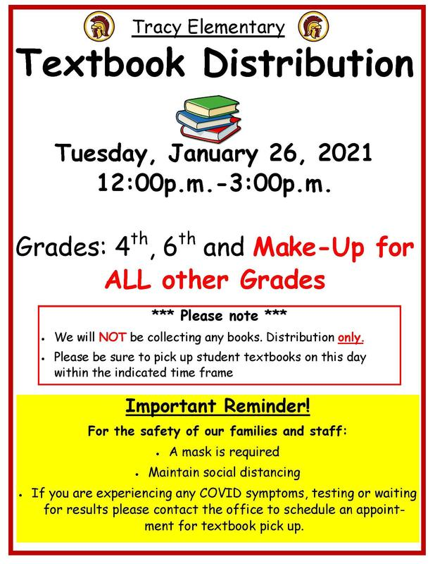 4th, 6th Grade & MAKE-UP Textbook Distribution Day Featured Photo