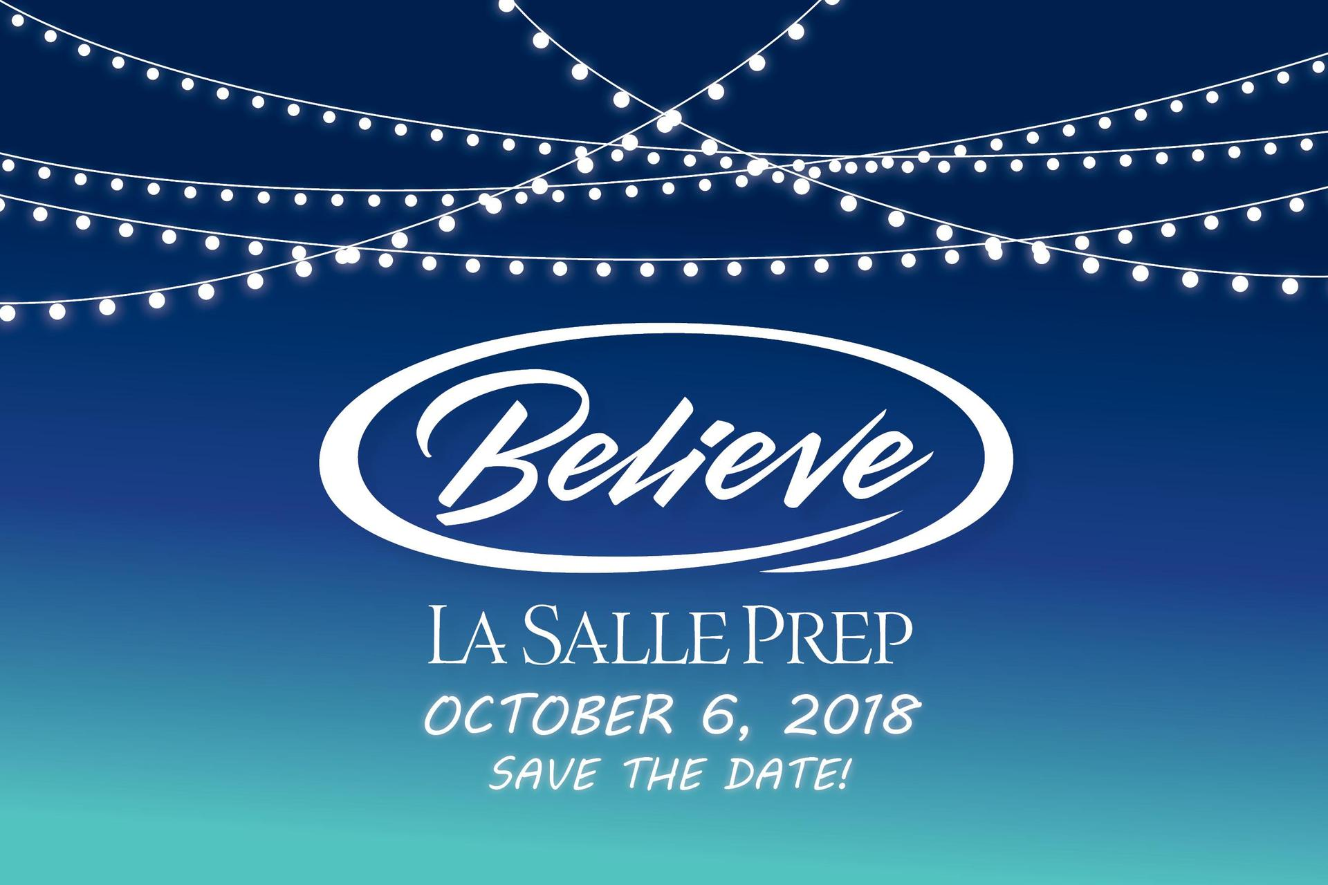 save the date banner for believe announcing Saturday, October 6