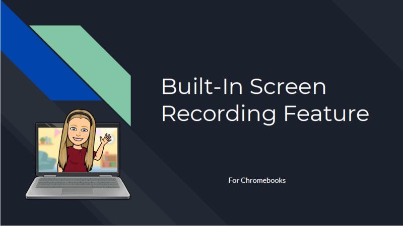 Screen Recording on Chromebooks