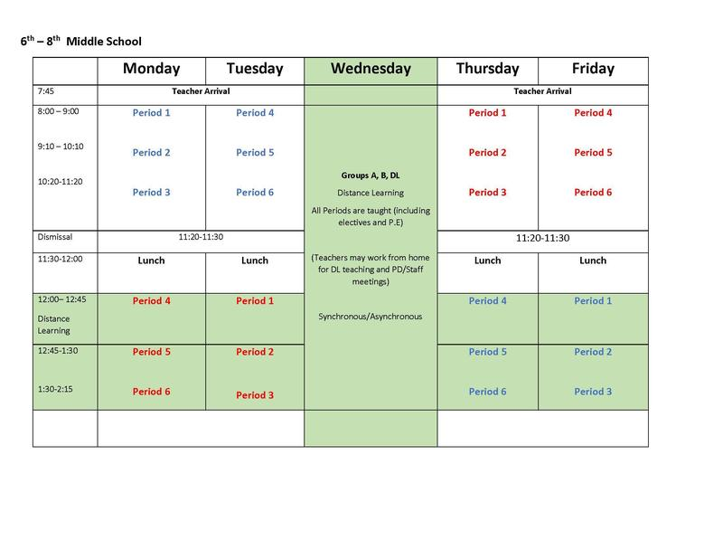 hybrid schedule 6-8