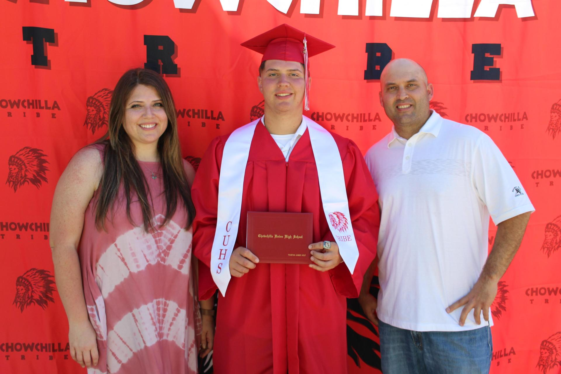 Tristan Holt and family