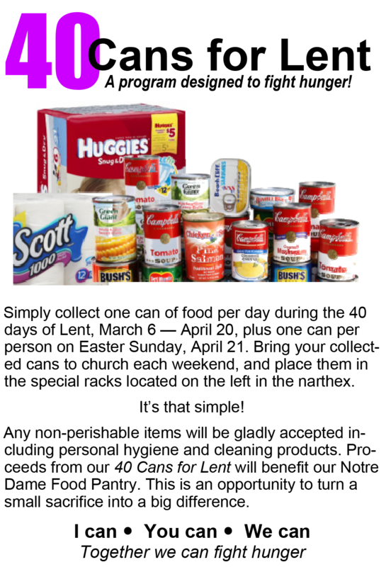 40 CANS FOR LENT Thumbnail Image
