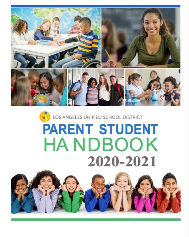LAUSD Parent Student Handbook 2020-21 Thumbnail Image
