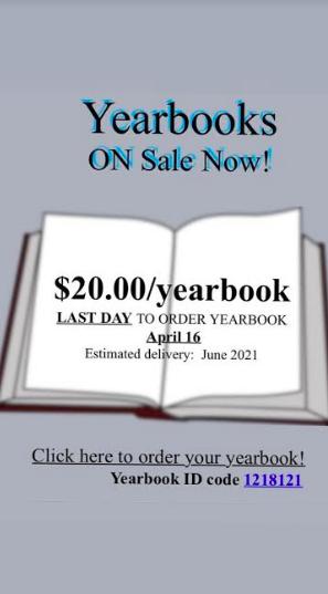 Yearbook for sale flier
