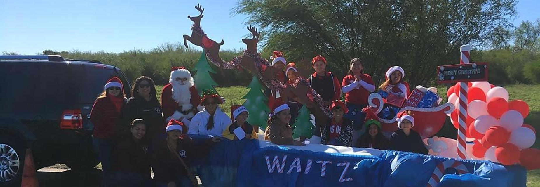 Waitz float for Alton Christmas Parade