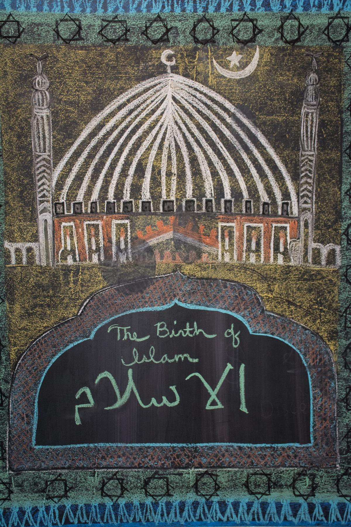 Islam studies chalkboard