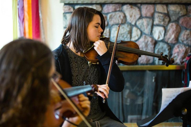 Steiner student playing violin