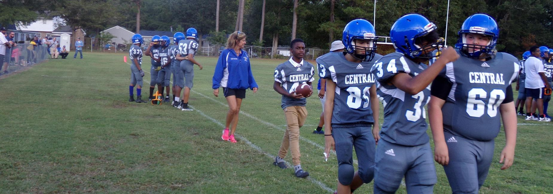 Nash Central Middle School football
